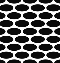 Monochrome seamless ellipse pattern background vector