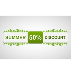 Nature discounted tag beautiful of a paper label w vector