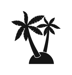 Palm trees icon simple style vector image
