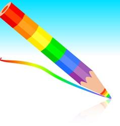 rainbow pencil vector image vector image