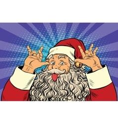Santa claus tease good sense of humor vector