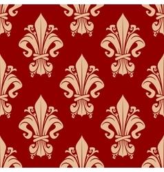 Seamless victorian fleur-de-lis pattern background vector