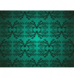 seamlessly damask wallpaper vector image