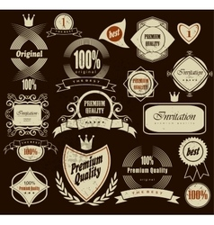 Set of Premium Quality and Guarantee Labels vector image vector image