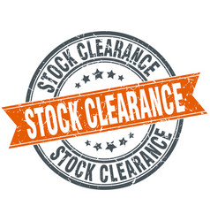 stock clearance round grunge ribbon stamp vector image vector image