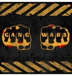Street gang wars poster vector