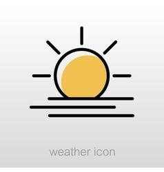 Sun heat icon meteorology weather vector