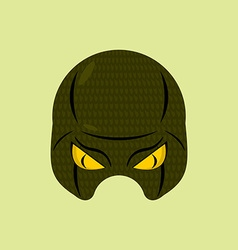 SuperHero mask snake Reptile protective mask for vector image