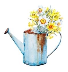 Watercolor spring flowers vector