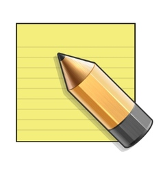 Yellow Paper and Pencil vector image