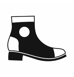 Men boot icon simple style vector