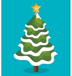Icon tree christmas snow design vector