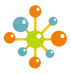 Chemical and physical atoms icon isolated vector