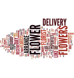 Flowers and flower delivery text background word vector