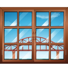 A window across the bridge vector