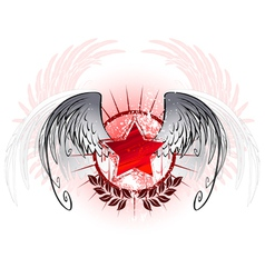 Red star painted with paint vector