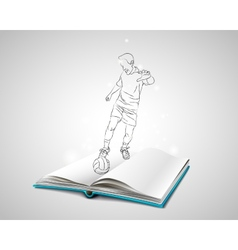 Doodle man playing football vector image