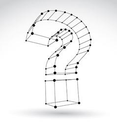 3d mesh stylish monochrome web question mark sign vector