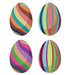 Colorful easter eggs2 vector