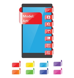 Colors label feature for smartphone vector