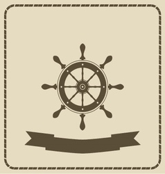 Wheel- nautical theme vector