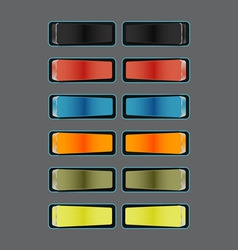 Slider buttons vector