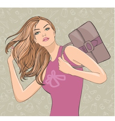 woman shopping vector image