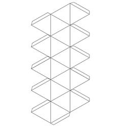 Icosahedron vector image