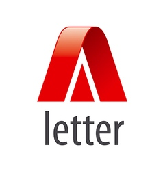 Abstract logo red letter a vector