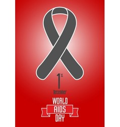 World aids day design concept vector