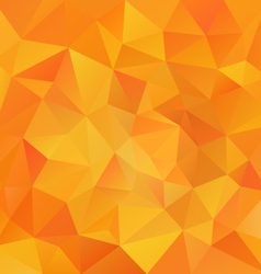 Yellow orange abstract polygon triangular pattern vector