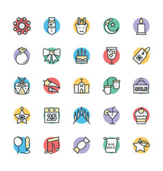Christmas Cool Icons 2 vector image