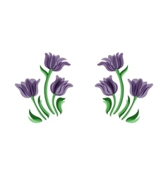 Purple tulips set vector image