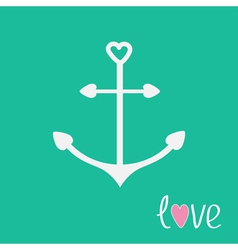 Anchor with shapes of heart Love card vector image vector image