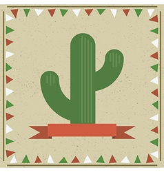 cactus decoration vector image vector image