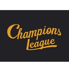 Championship league football typography Tee vector image vector image