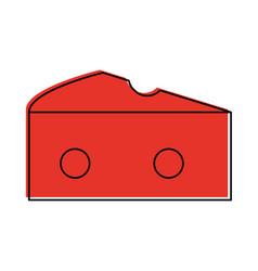 Cheese piece icon image vector