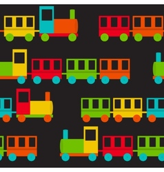 Children Train Seamless Pattern vector image