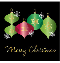 christmas graphic with overlapping ornaments vector image vector image