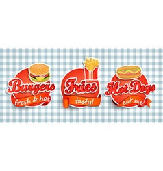 Fast food label vector