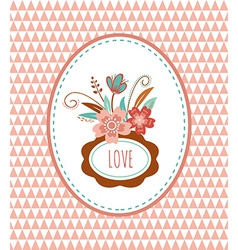 Flowers with frames - card vector image vector image