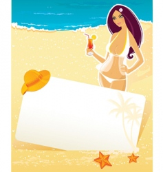 girl summer vector image vector image