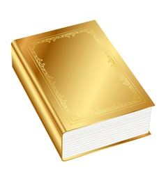 gold book vector image vector image