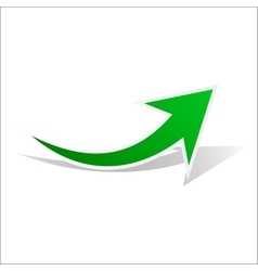 Green best arrow vector