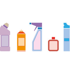 household chemicals vector image