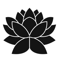Lotus flower icon simple style vector