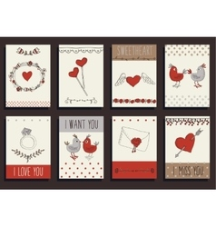 Love decorative elements set vector