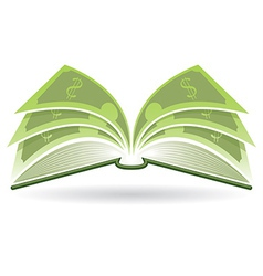 Money book vector