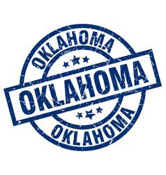 Oklahoma blue round grunge stamp vector