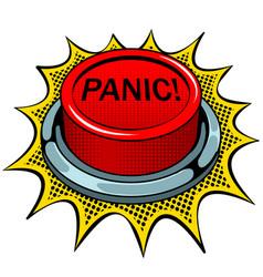 Panic red button pop art vector